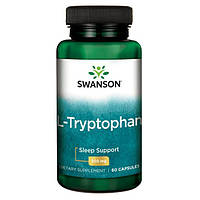 L-Триптофан, (улучшает сон и психику) 500 мг 60 капсул, фото 1