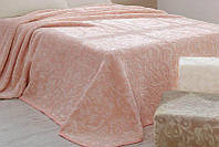 Плед велюровый Aksu 220x240см персиковый