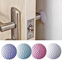 Дверной ограничитель, стопор для двери силиконовый. Отбойник  для дверей белый.