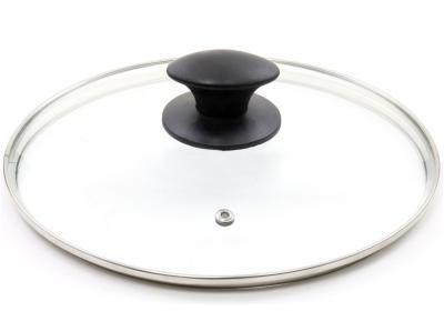 Крышка стеклянная с металлическим ободком 28см Kamille 0648L