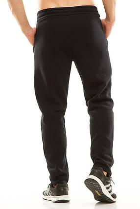 Мужские спортивные теплые  штаны 437 темно-синие, фото 2