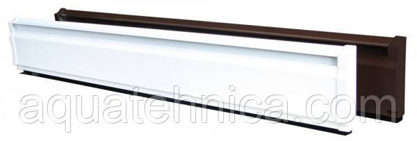 Тёплый электрический плинтус электроконвектор Термия 270 Вт 1,5 метра коричневый