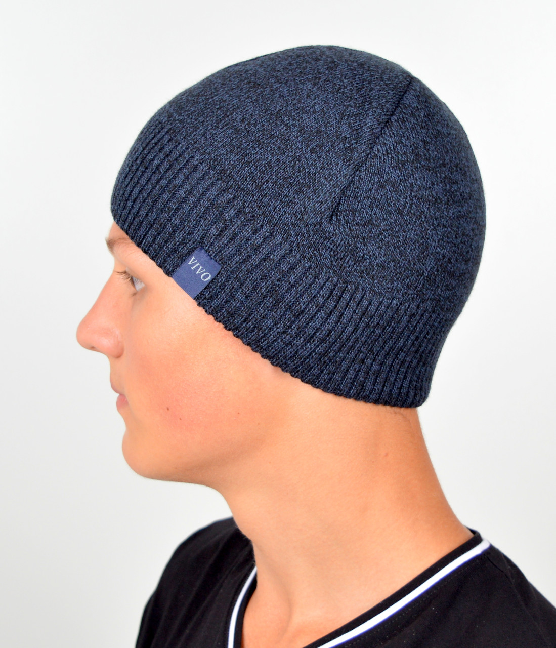 Чоловіча шапка VIVO №8 джинс меланж
