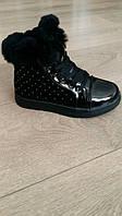 Ботинки зимние для девочки, Clibee, чёрные, размер 32,35,36