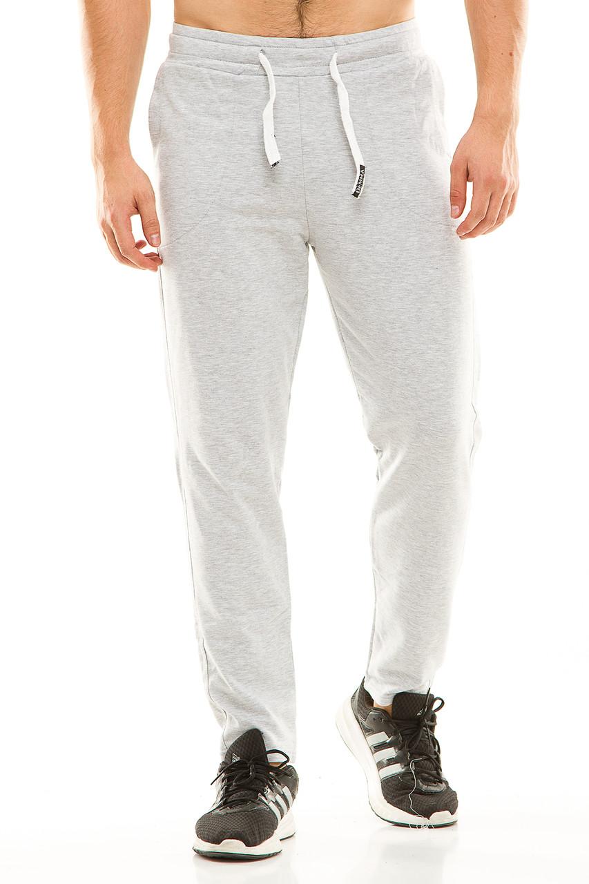 Мужские спортивные теплые  штаны 437 серые размер 50