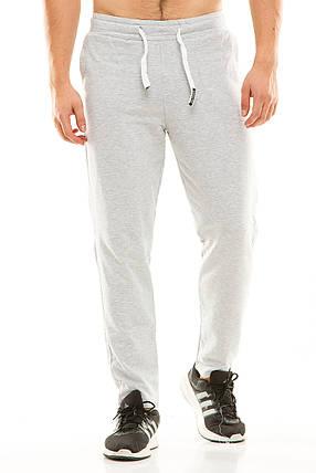 Мужские спортивные теплые  штаны 437 серые размер 50, фото 2