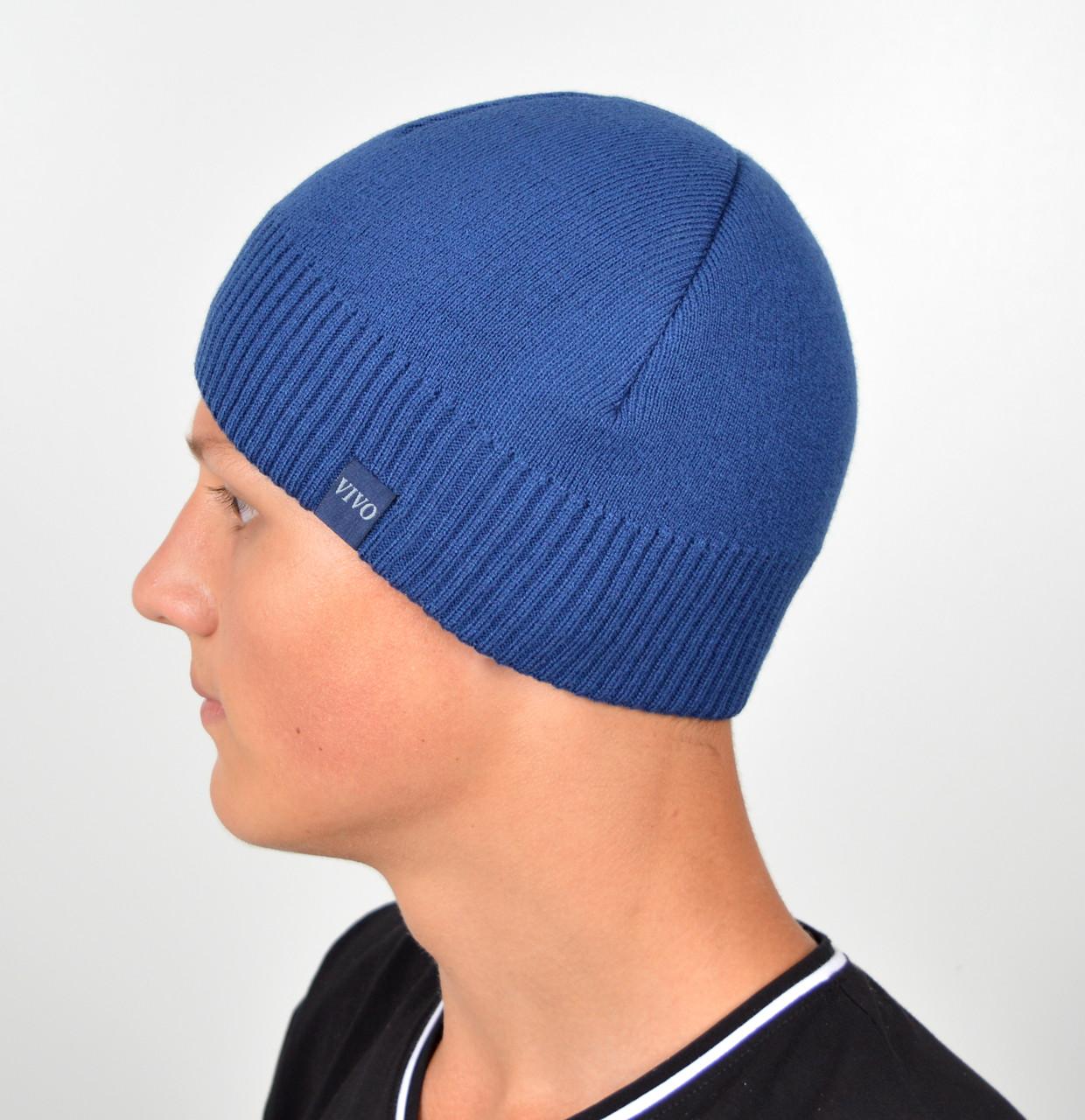 Мужская шапка VIVO №8 джинс