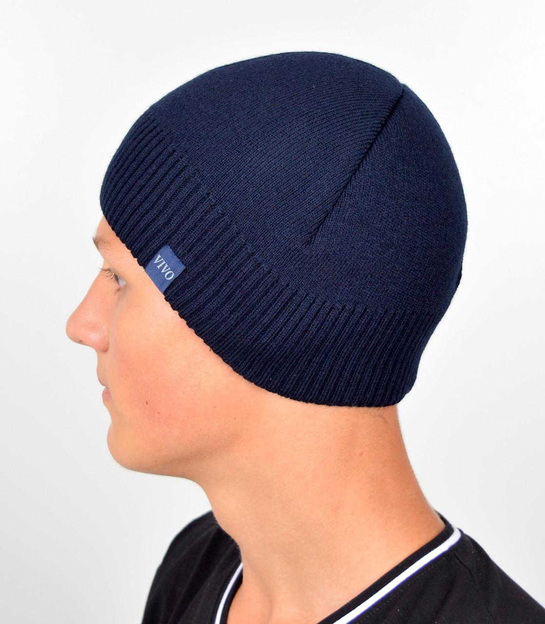 Мужская шапка VIVO №8 Синий