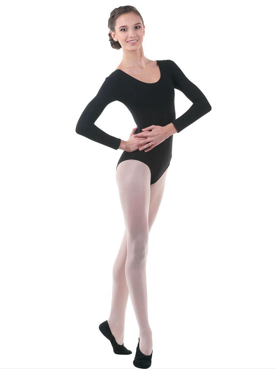 Женский купальник для гимнастики и танцев Черный
