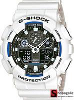 Мужские Наручные Электронные Часы в стиле Casio G-Shock GA 100 Белые