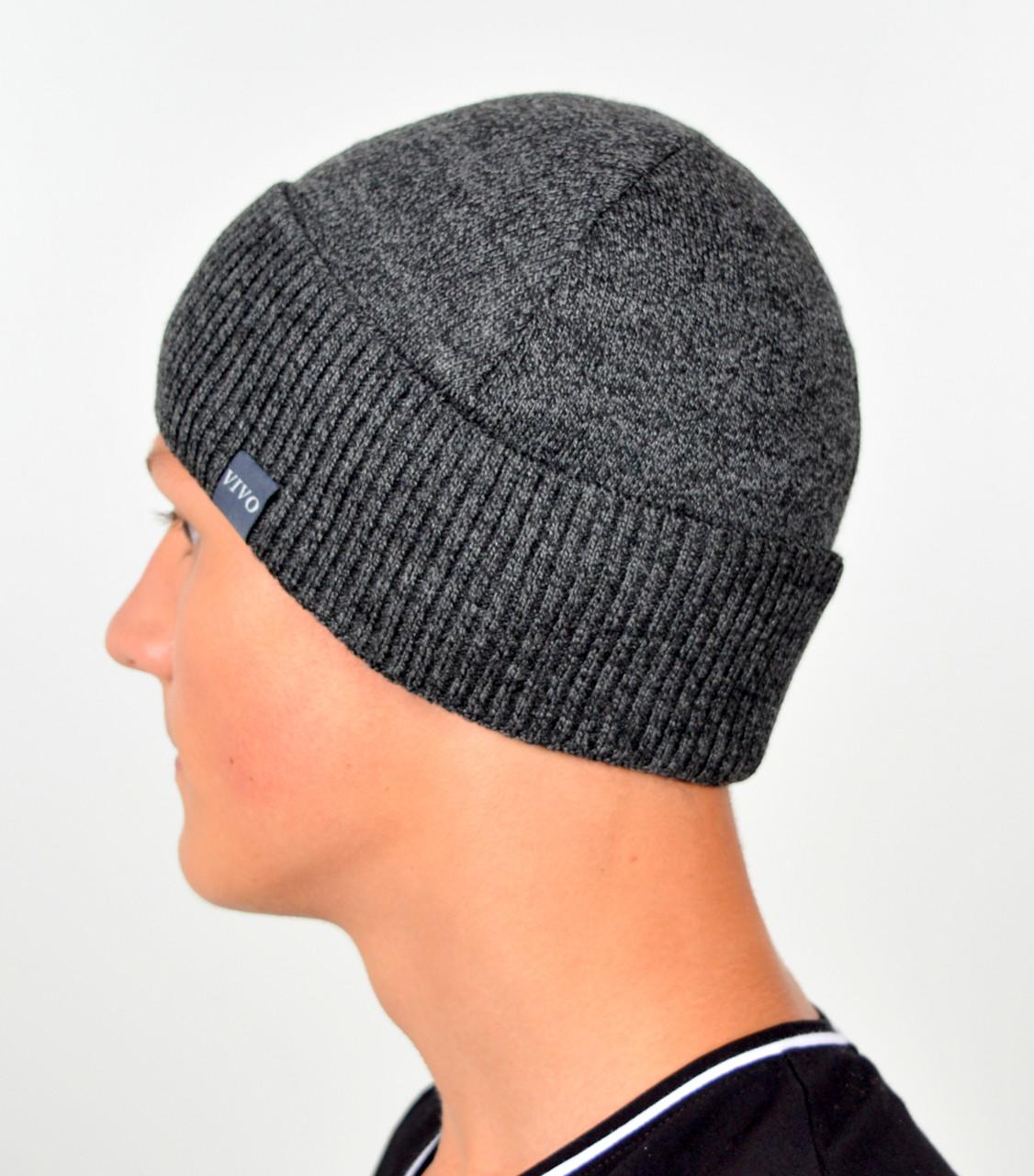 Чоловіча шапка VIVO №13 сірий меланж