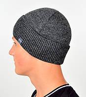 Чоловіча шапка VIVO №13 сірий меланж, фото 1