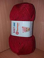 Детский 100% анти-пиллинг акрил(100г/250м) Kartopu Baby ONE 125(красный)