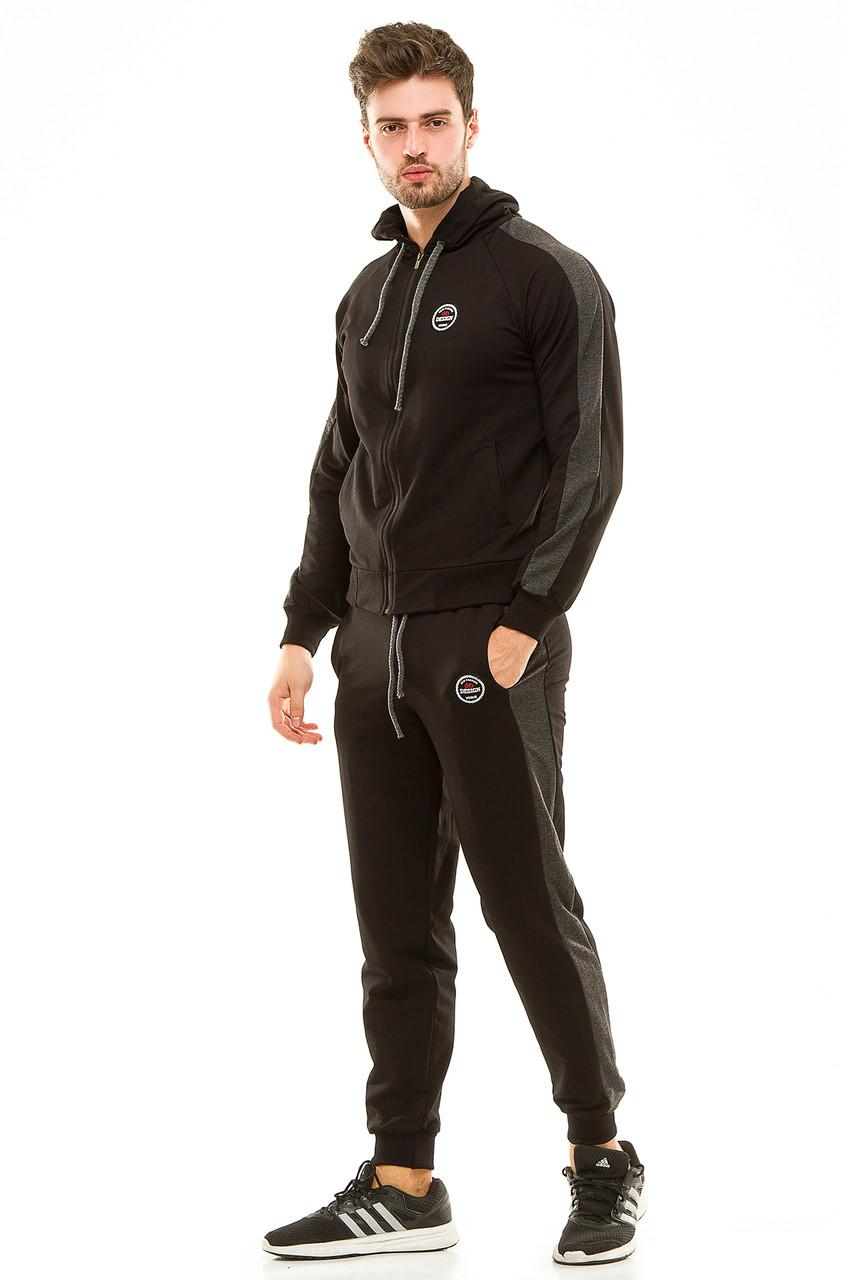 Мужской спортивный костюм 449 черный