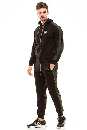 Мужской спортивный костюм 449 черный, фото 2