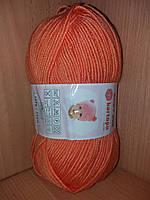 Детский 100% анти-пиллинг акрил(100г/250м) Kartopu Baby ONE 256(оранжевый)