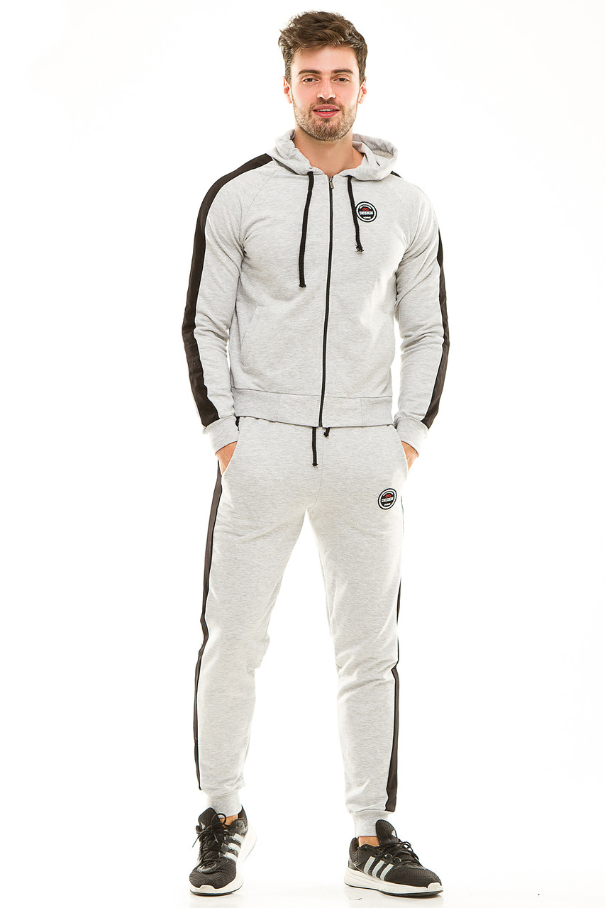 Мужской спортивный костюм 449 серый