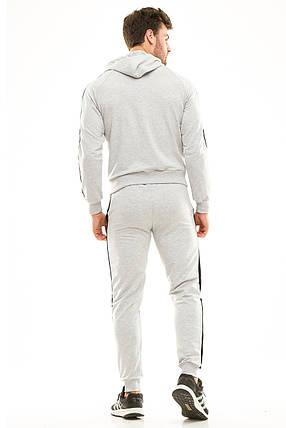 Мужской спортивный костюм 449 серый, фото 2