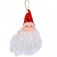 От 10 шт. Подвеска - Голова Деда Мороза СF168377 купить оптом в интернет магазине От 10 шт.