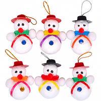 От 5 шт. Набор снеговиков 6 шт 12-126/FB8039 купить оптом в интернет магазине От 5 шт.