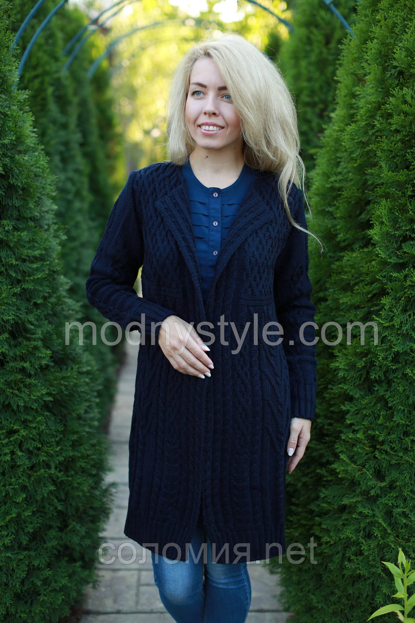 кардиган женский вязаный стильный шерстяной размеры 46 56 продажа цена в києві