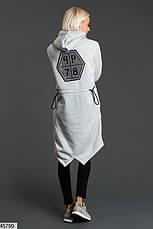 Стильное теплое платье-худи размеры: 42-44, 44-46, фото 3