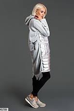 Стильное теплое платье-худи размеры: 42-44, 44-46, фото 2