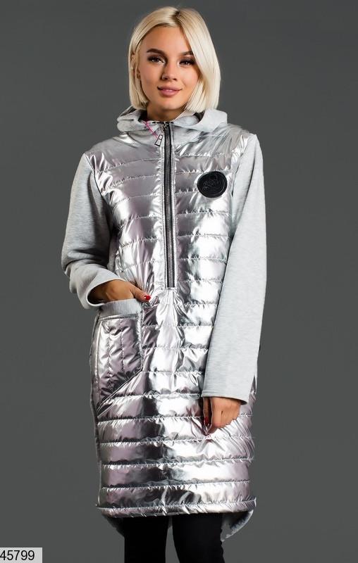 Стильное теплое платье-худи размеры: 42-44, 44-46