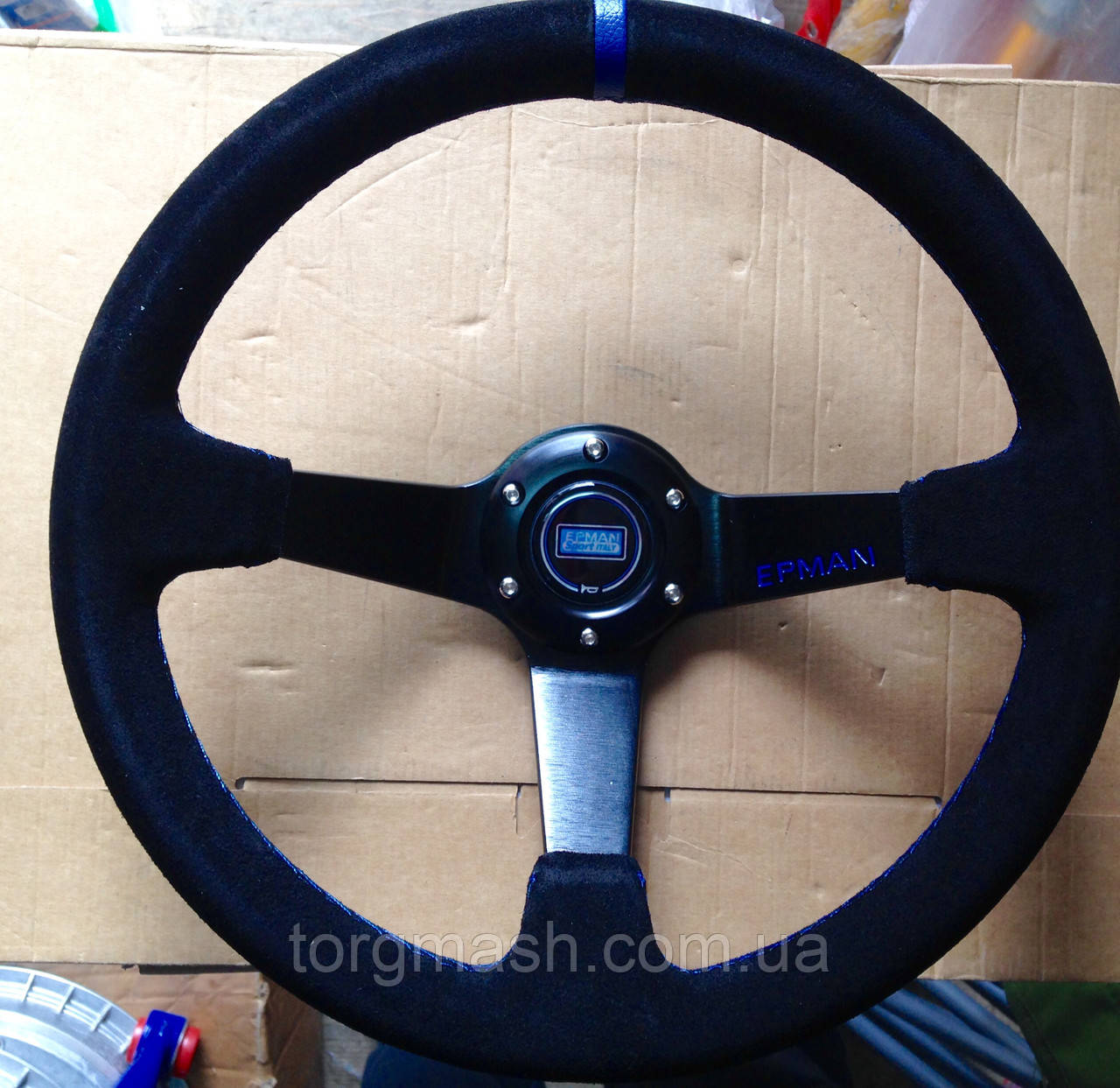 Рулевое колесо с выносом  350 мм материал замша