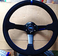 Рулевое колесо с выносом  350 мм материал замша, фото 1