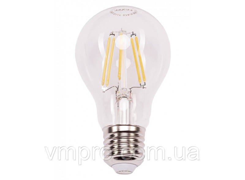Светодиодная лампа Filament Luxel A60 7W, 220V (072-N 7W)
