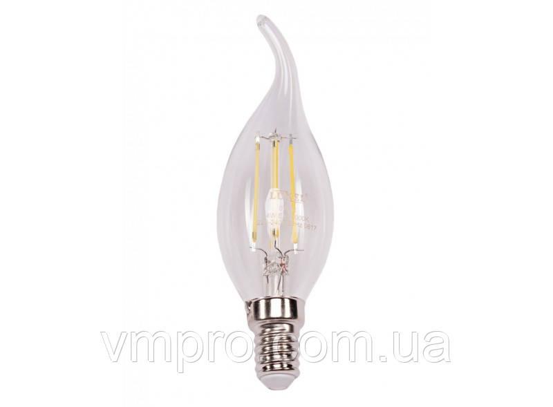 Светодиодная лампа Filament Luxel CA35 4W, 220V (074-H 4W)