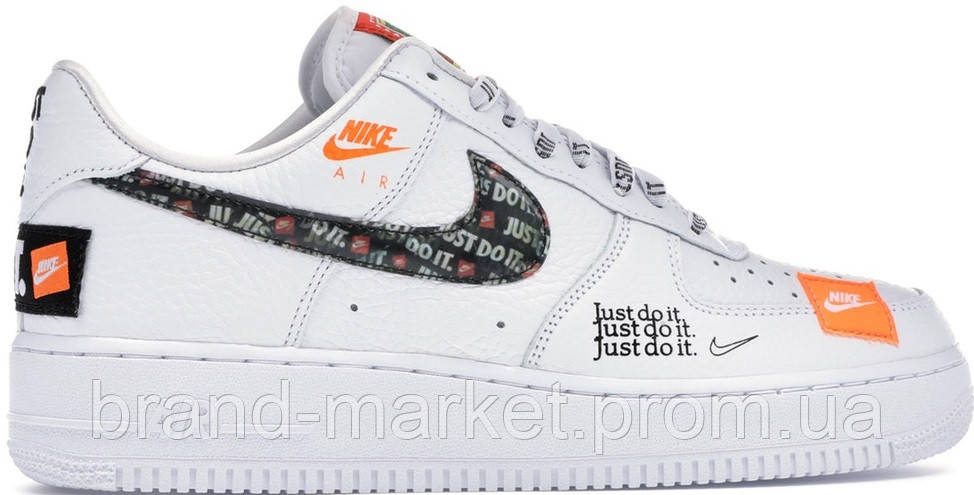 b76620e89eebff Мужские кроссовки Nike Air Force 1 Low Just Do It Pack White / Black (найк