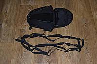 Мотосумка - поясничный упор на хвост мотоцикла (скутера) съёмная черная  30х25х20