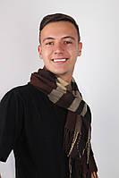 Шарф Алекс коричневый, фото 1