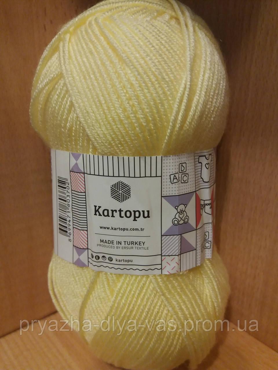 Детский 100% анти-пиллинг акрил(100г/250м) Kartopu Baby ONE 331(лимон)