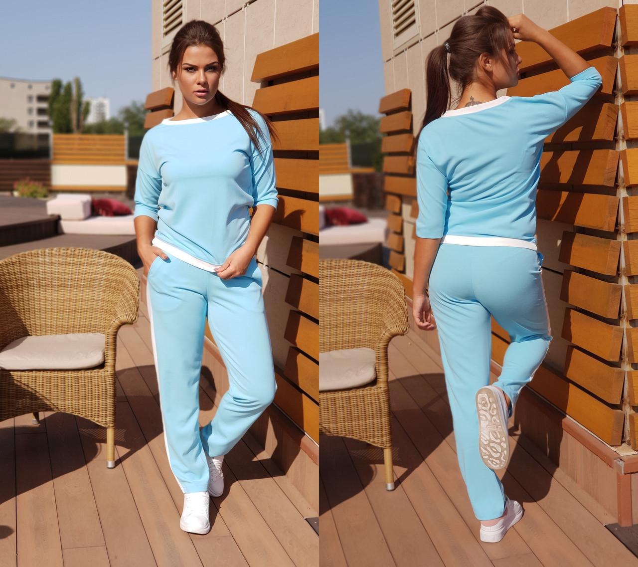 e7435cb9b840 Брючный женский костюм в спортивном стиле