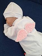 Нарядный комбинезон c крыльями Angel (розовый)