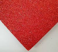 Фоамиран с глитером красный 20*30