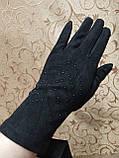 Замш+Замш с сенсором тонкий женские перчатки для работы на телефоне плоншете ANJELA стильные только оптом, фото 2