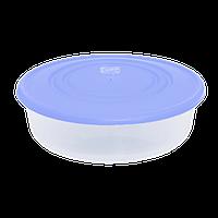 Контейнер для пищевых продуктов 0,55 л круглый с разноцветными крышками Алеана 167033