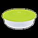 Контейнер для пищевых продуктов 1,025 л круглый с разноцветными крышками Алеана 167034, фото 3