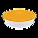 Контейнер для пищевых продуктов 1,025 л круглый с разноцветными крышками Алеана 167034, фото 4