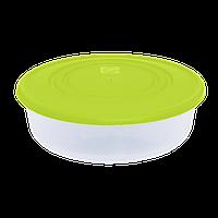 Контейнер для пищевых продуктов 1,7 л круглый с разноцветными крышками Алеана 167035
