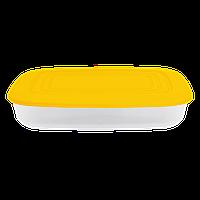 Контейнер для пищевых продуктов 1,5 л прямоугольный с разноцветными крышками Алеана 167024