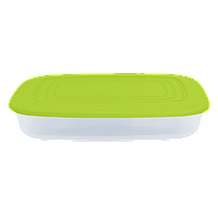 Контейнер для пищевых продуктов 2,5 л прямоугольный с разноцветными крышками Алеана 167025