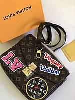 Женская сумочка LOUIS VUITTON Pochette Metis LUX нат. кожа (реплика), фото 1