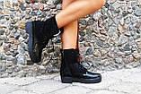 Ботинки на шнурках натуральная замша +эколак. Подошва: черная и белая. Размеры: 36-42  код 4565О, фото 2