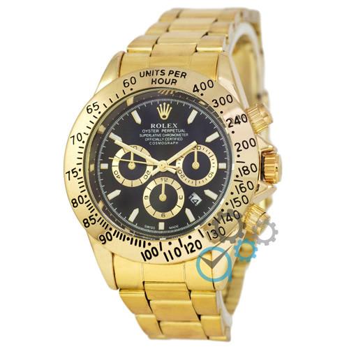 d65e355da603 ЧАСЫ МУЖСКИЕ Rolex Daytona Date Gold-Black (Ролекс Дайтоне золото-черный)  Чоловічий годинник реплика