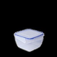 Контейнер для пищевых продуктов 1,5 л квадратный с зажимом Алеана 167053